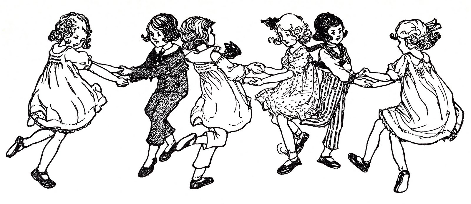 Vintage Image Children Dancing Swedish Song The Graphics Fairy
