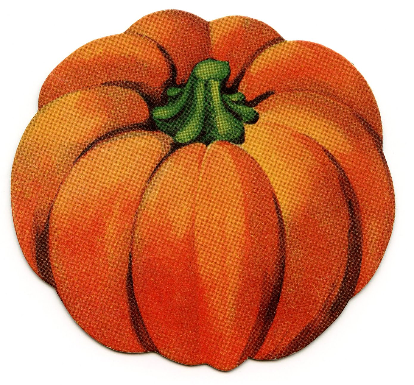vintage halloween clip art - cute little pumpkin - the graphics fairy