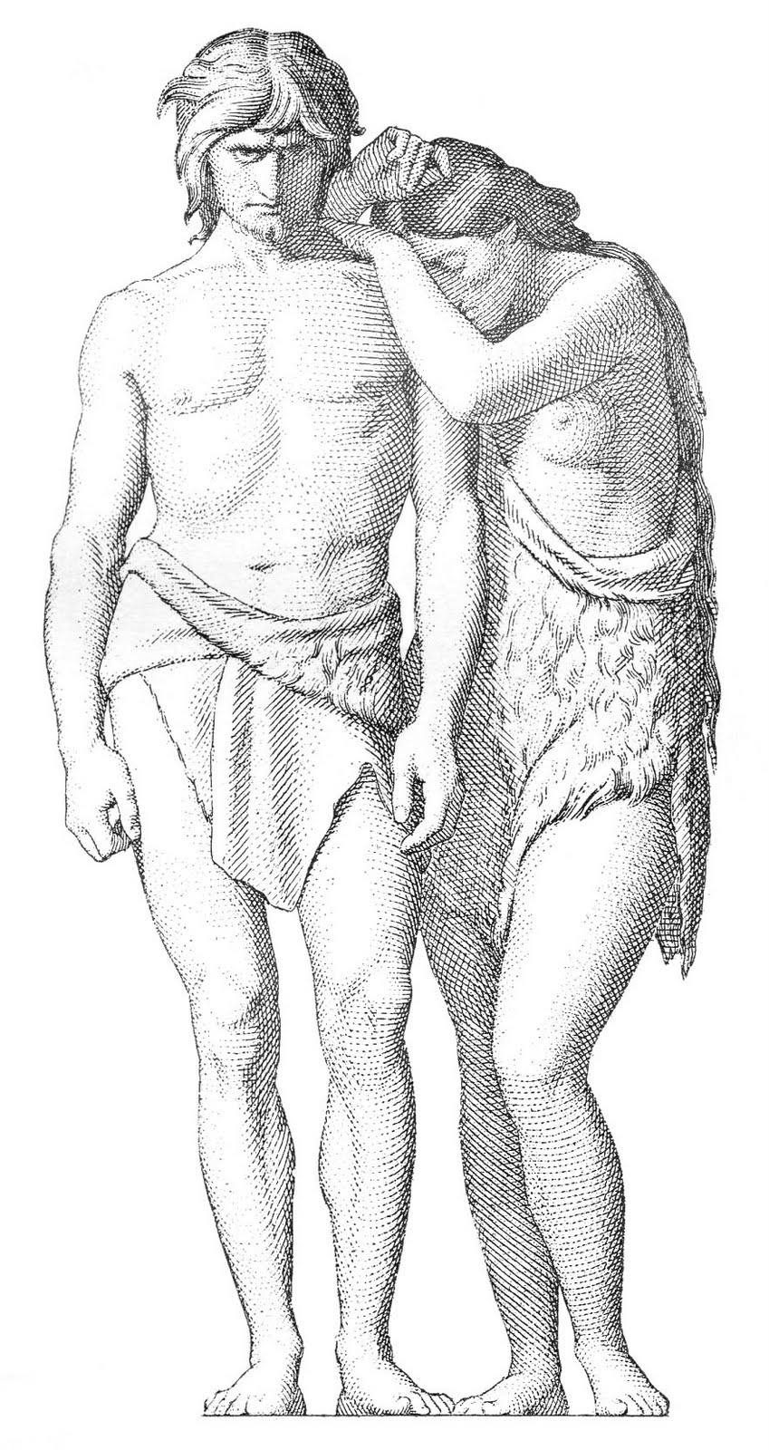 Vintage Religious Clip Art - Adam and Eve Engraving - The Graphics ...