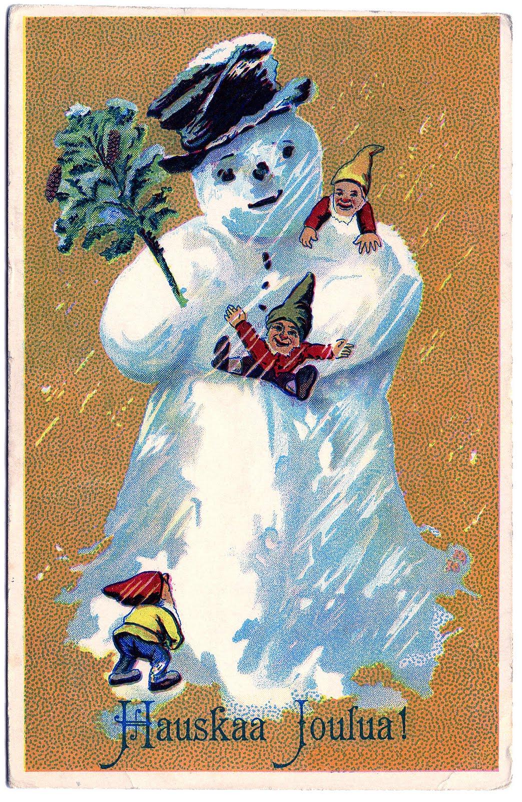 vintage snowman clipart - photo #31