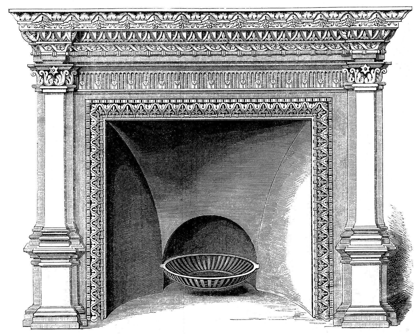 clipart fireplace - photo #32