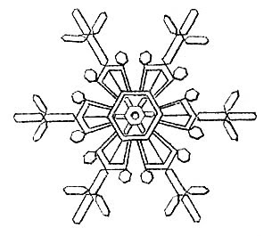 Vintage Clip Art - 3 Cute Snowflakes - The Graphics Fairy