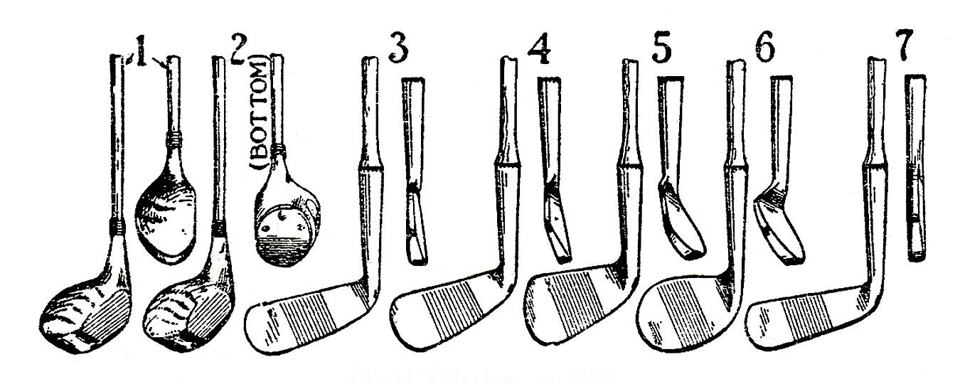 Vintage Sports Clip Art Fencing Tennis Golf