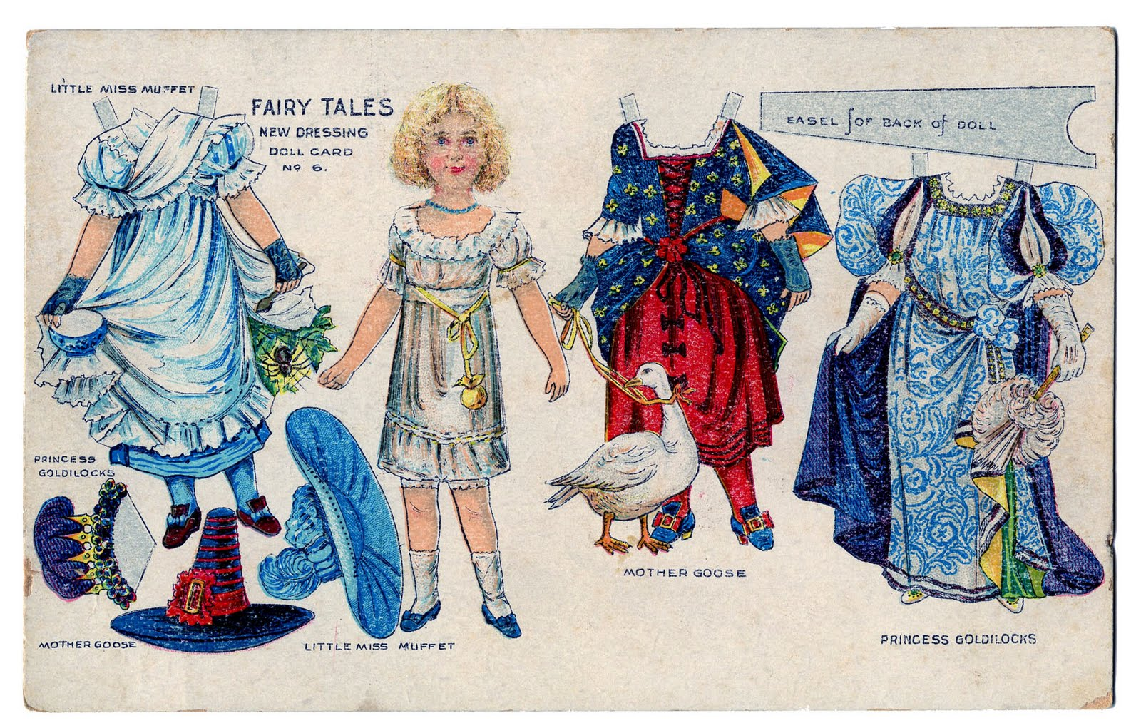 vintage kids printable fairy tale paper doll postcard the graphics fairy. Black Bedroom Furniture Sets. Home Design Ideas