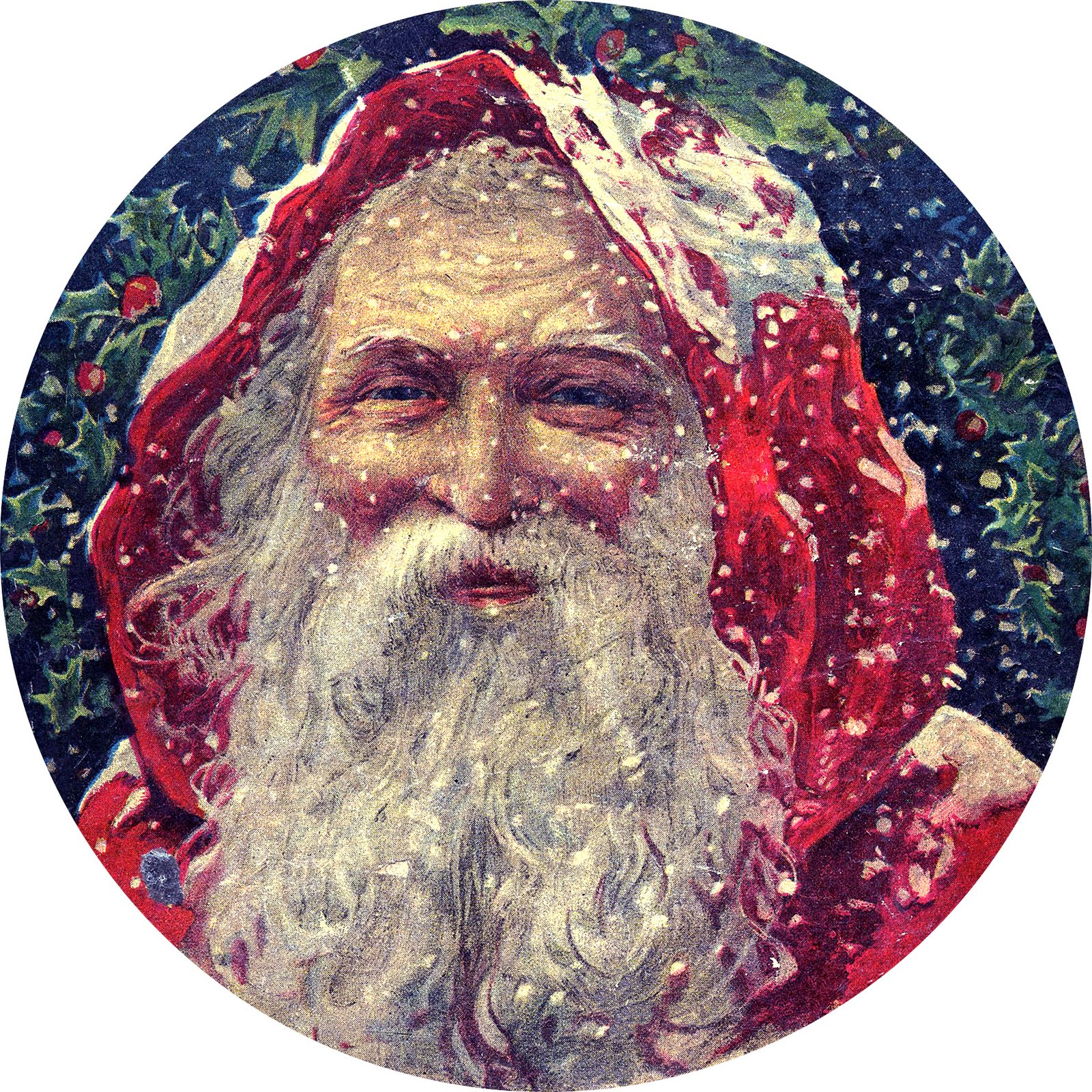 Vintage Christmas - Classic Victorian Santa - The Graphics Fairy