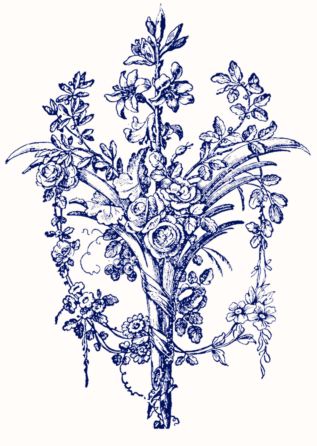 Italian ornaments - Vintage Graphic Images French Ornaments With Roses