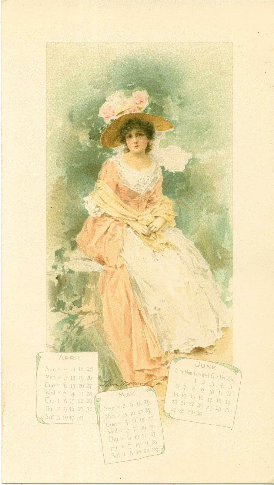 victorian calendar ladies