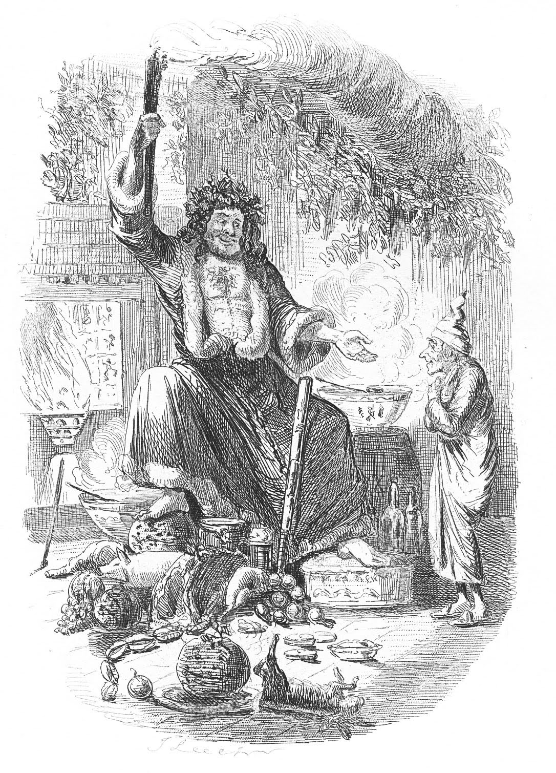 Antique christmas image dickens a christmas carol for Christmas carol coloring pages