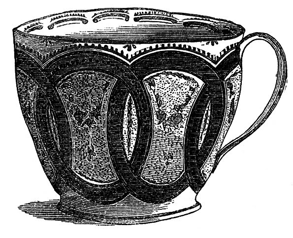 Fancy Teacup Clip Art and White Teacup image