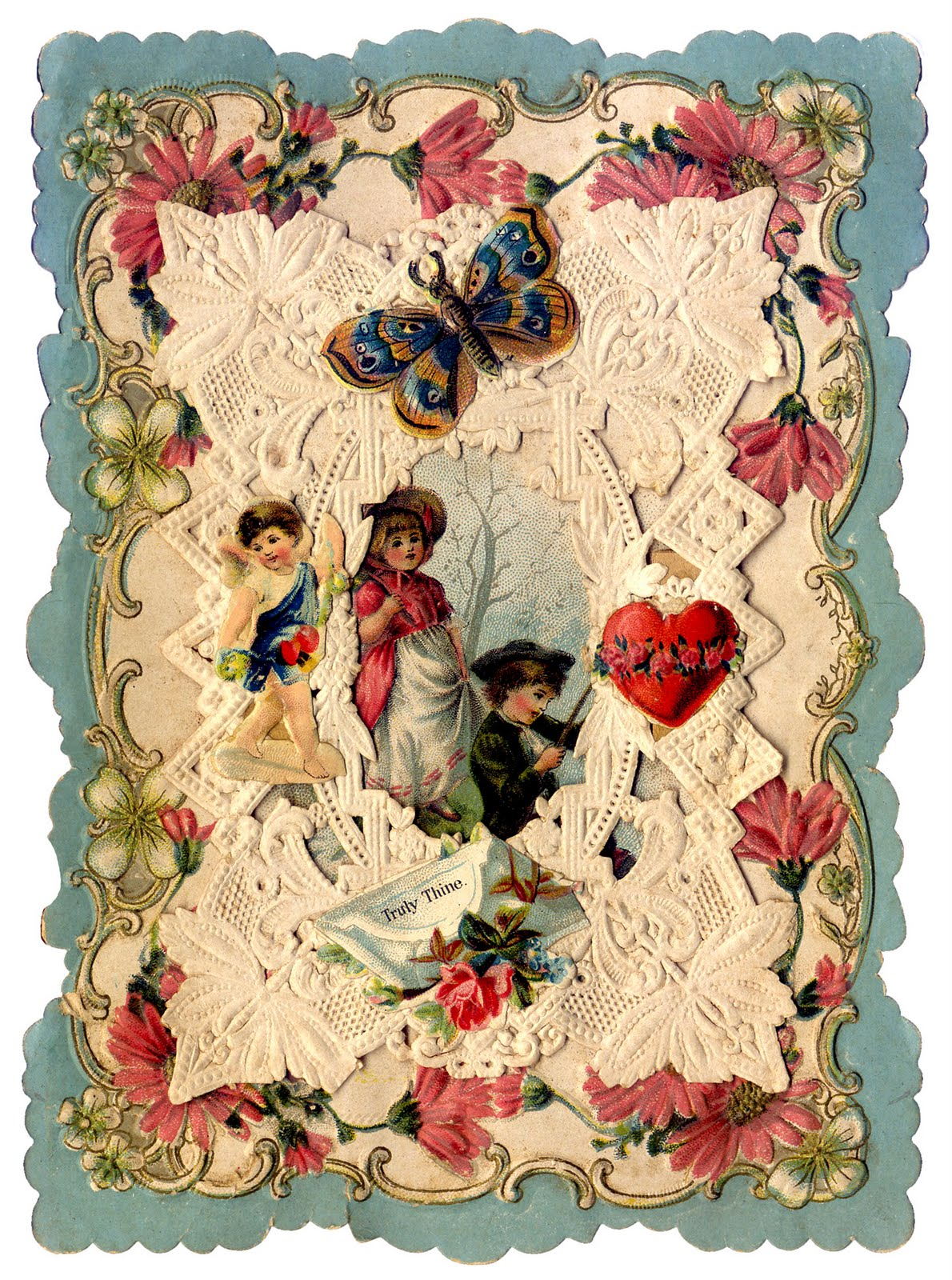 recently a very kind reader named paige offered up some scans of her early valentine collection these are some really beautiful and rare victorian