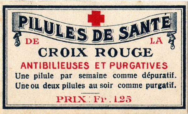 French Pharmacy Label - The Graphics Fairy