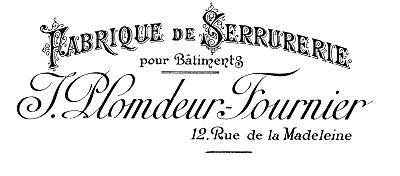 French Typography Printable Fabrique de Serrurerie