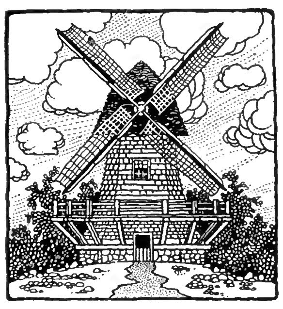 dutch windmill coloring pages - photo#13